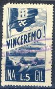Erinnofili, Italia 1941, Vinceremo Ina-Gil Lire 5 - Italia