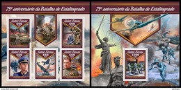GUINEA BISSAU 2017 - World War 2: Stalingrad. M/S + S/S. Official Issue - 2. Weltkrieg