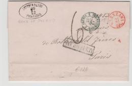 Pol090 // - POLEN -Bankbrief 1864 Nach Paris - Covers & Documents