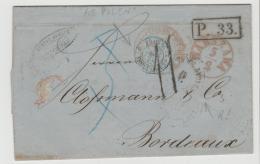 Pol095a / - POLEN -Warschau 1865 Nach Bordeaux (P.33) - Covers & Documents
