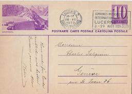 POSTKARTE → 10 Rp. Von Luzern Nach Genf  ►Postauto Auf Der Grimselstaumauer ◄ - Entiers Postaux