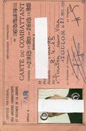 CARTE DE COMBATTANT  N° 63917  VAR   1980 - Sin Clasificación