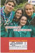 """CPM 10X15 . SCOUTISME . Scouts Guides Champagne Nord  """"Engagez-vous,ça Rend Heureux """" - Scoutisme"""