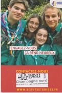 "CPM 10X15 . SCOUTISME . Scouts Guides Champagne Nord  ""Engagez-vous,ça Rend Heureux "" - Scouting"