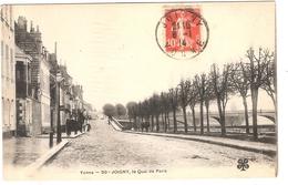 CPA Joigny Le Quai De Paris 89 Yonne - Joigny
