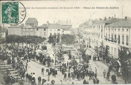 Souvenir Du Concours Musical 15-16 Août 1908 Place Du Palais De Justice - Roanne