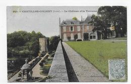 CHATILLON COLIGNY EN 1906 - N° 569 - LE CHATEAU ET LA TERRASSE - BEAU CACHET - CPA VOYAGEE - Chatillon Coligny
