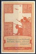 Erinnofili, Italia 1915-18, 'Pugnano I Tuoi Figliuoli. Attendi, Italia, Attendi'. Leopardi - Italia