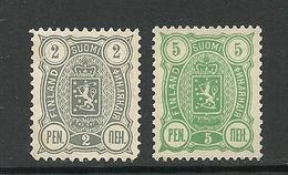 FINLAND FINNLAND 1890 Michel 27 - 28 (*) - Ungebraucht