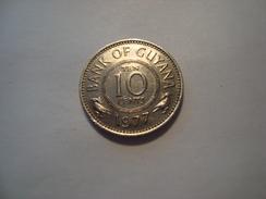 MONNAIE GUYANA 10 CENTS 1977 - Guyana