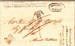 Stato Pontificio. Offida Per Monterubbiano. Lettera Con Contenuto 1858 - Stato Pontificio