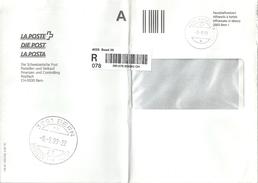 """R Brief  """"Form 139.30""""  Basel 39 - Bern  (Schnapsdatum)           1999 - Switzerland"""