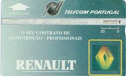 PHONECARDS-- PORTUGAL-- TELECOM-PORTUGAL- OPTICAL- 20 U  RENAULT---..- BATCH  305A - Portugal