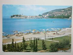 Postcard Budva Slovenska Plaza Montenegro  My Ref B11013 - Montenegro