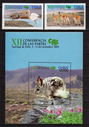 Chile 2002 The 12th Convention On Int. Trade In Endangered Species Conference, Santiago,Birds.animals.S/S And Stamps.MNH - Chile