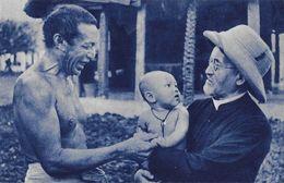 Mission D'Océanie, L'avenir De La Chrétienté (père Missionnaire, Bébé) - Edition De La Propagation De La Foi, Carte Cyan - Missions