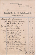 INVOICE FROM T.B.H. WILLIAMS - GROCER - TRECWN - LETTERSTON - PEMBROKESHIRE - WALES - With R.S.O. Sorting Office - United Kingdom