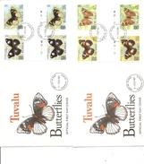 Papillons ( 2 FDC De Tuvalu De 1981 Avec Timbres Interpanneaux à Voir) - Schmetterlinge