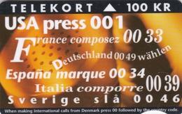 Denmark, FR 002, New International Codes, Only 7000 Issued, 2 Scans. - Danimarca