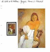 La Carte Et Le Tableau - Gauguin - Femme à L'éventail - Impressionisme