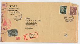 RACCOMANDATA 1944 GERMANIA REICH - VERIFICA DEL REGIME (RL313 - Germany