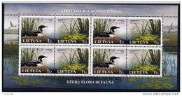 LITHUANIA 2005 Endangered Species Sheetlet MNH / **.  Michel 883-84 Kb - Lithuania