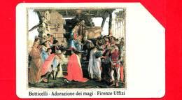 ITALIA - Scheda Telefonica - SIP - Usata - Firenze Uffizi - Botticelli - C&C 2181 - Golden 102 - Pubbliche Speciali O Commemorative
