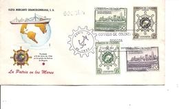 Colombie - Marine Marchande  ( FDC De 1955 à Voir) - Kolumbien