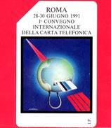 ITALIA - Scheda Telefonica - SIP - Usata - 1° Convegno Carta Telefonica - C&C 2190 - Golden 133 - Italia