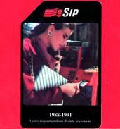 ITALIA - Scheda Telefonica - SIP - Usata - 150 Milioni Di Carte - Golden 135 - Fouten & Varianten