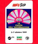 ITALIA - Scheda Telefonica - SIP - Usata - Smau 1991 - OCR Piccolo - Golden 136b - Fouten & Varianten