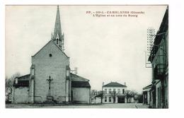 33 Camblanes Eglise Et Un Coin Du Bourg Cpa Carte Non Voyagée - France