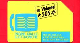 ITALIA - Scheda Telefonica - SIP - Usata - Pagine Gialle Elettroniche - C&C 2196 - Golden 139 - Italia