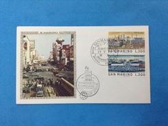 1975 Vedute Di Tokyo San Marino Busta Primo Giorno Fdc Filagrano Gold First Day Cover - FDC