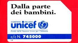 ITALIA - Scheda Telefonica - SIP - Usata - Unicef - C&C 2244 - Golden 187 - Pubbliche Speciali O Commemorative