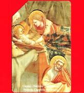 ITALIA - Scheda Telefonica - SIP - Usata - Natale 1991 - Giotto - C&C 2247 - Golden 190 - Italia