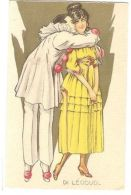 DI LEODUD - PIERROT & LADY IN YELLOW - N. 117 - 1910s  ( 175 ) - Non Classés