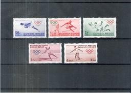 JO Rome 1960 - Congo Belge - 367/71 - XX/MNH - Série Complète - Ete 1960: Rome