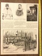 DOCUMENT Avant 1900 LE SALUT DES ARMES LIEUTENANT GOULY MISSION MARCHAND A BIA HAUT NIL TOMBEAU DE GOYA - Vieux Papiers