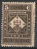 España U 0638 (o) Montserrat. 1931 - 1889-1931 Reino: Alfonso XIII