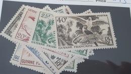 LOT 348360 TIMBRE DE COLONIE GUYANE  NEUF** N°201 A 217  VALEUR 53 EUROS LUXE - Nuevos