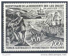 """TAAF Aerien YT 27 (PA) """" Découverte Des Iles Crozet """" 1972 Neuf** - Poste Aérienne"""