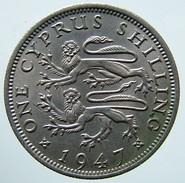 1947 - Cyprus 1 Shilling - KM# 27 - Cipro