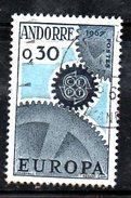 R1039 - ANDORRA 1967 , 30 Cent N. 179 Usato . Europa Cept