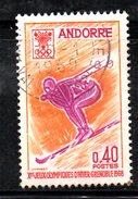 R1040 - ANDORRA 1968 , 40 Cent N. 187 Usato . Grenoble