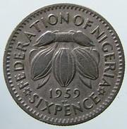 1959 - Nigeria - 6 Pence - KM# 4 - Nigeria
