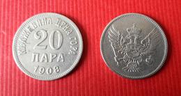 MONTENEGRO Kingdom  20 Para 1908 - Coins
