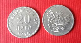 MONTENEGRO Kingdom  20 Para 1914 - Coins
