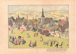 3850 Gravure HANSI Mon Village, Images Et Commentaires Par L'Oncle H,si FLEURY Editeur Signé 1913 29 X 20,5 Cm - Old Paper