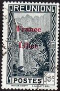 Réunion Obl. N° 224 - Vue -> Bras Des Demoiselles - 15 Cts Noir Surchargé France Libre - Oblitérés